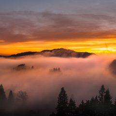 Strøno in fog