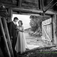 Bryllupsbilde i naustet